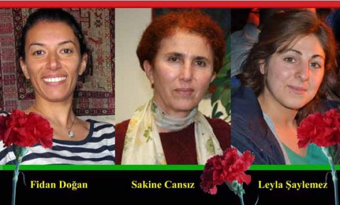Fidan Dogan, Sakine Cansiz und Leyla Saylemez