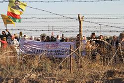 Auch an der Grenze zwischen Afrin und Kilis wurde eine Mauer errichtet, wie auf dem Bild zu sehen ist