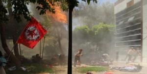 bomb attack on SGDF  in suruc