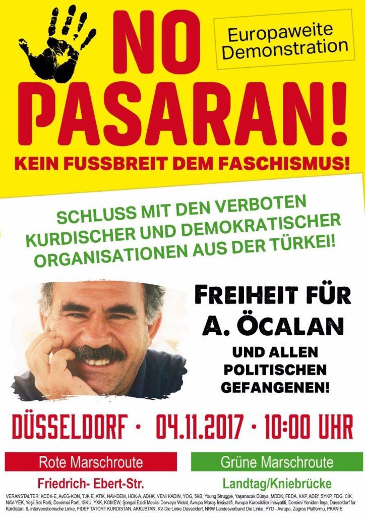 Deutschlandweite Proteste für Freiheit Abdullah Öcalans halten an