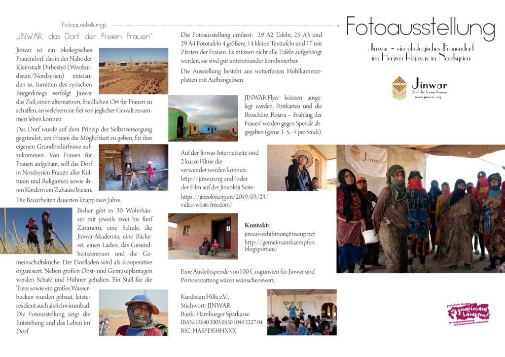 """Fotoausstellung """"JINWAR – das Dorf der freien Frauen in Rojava"""""""